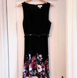Black Elle flowered dress
